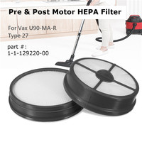 New Type 27 Pre Post Motor HEPA Filter Kit Replacement For Vax Mach Air Vacuum Cleaner