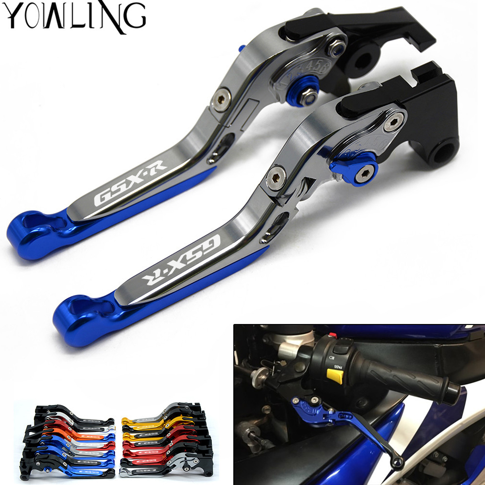 Adjustable extenable CNC Motorcycle brake clutch lever FOR suzuki gsxr 600 GSXR 1000 GSXR750 2011 2012 2013 2014 2015 2016 2017 motorcycle silver unfoldable rear brake pedal foot lever for 2006 2014 suzuki gsxr 600 750 2005 2015 suzuki gsxr 1000