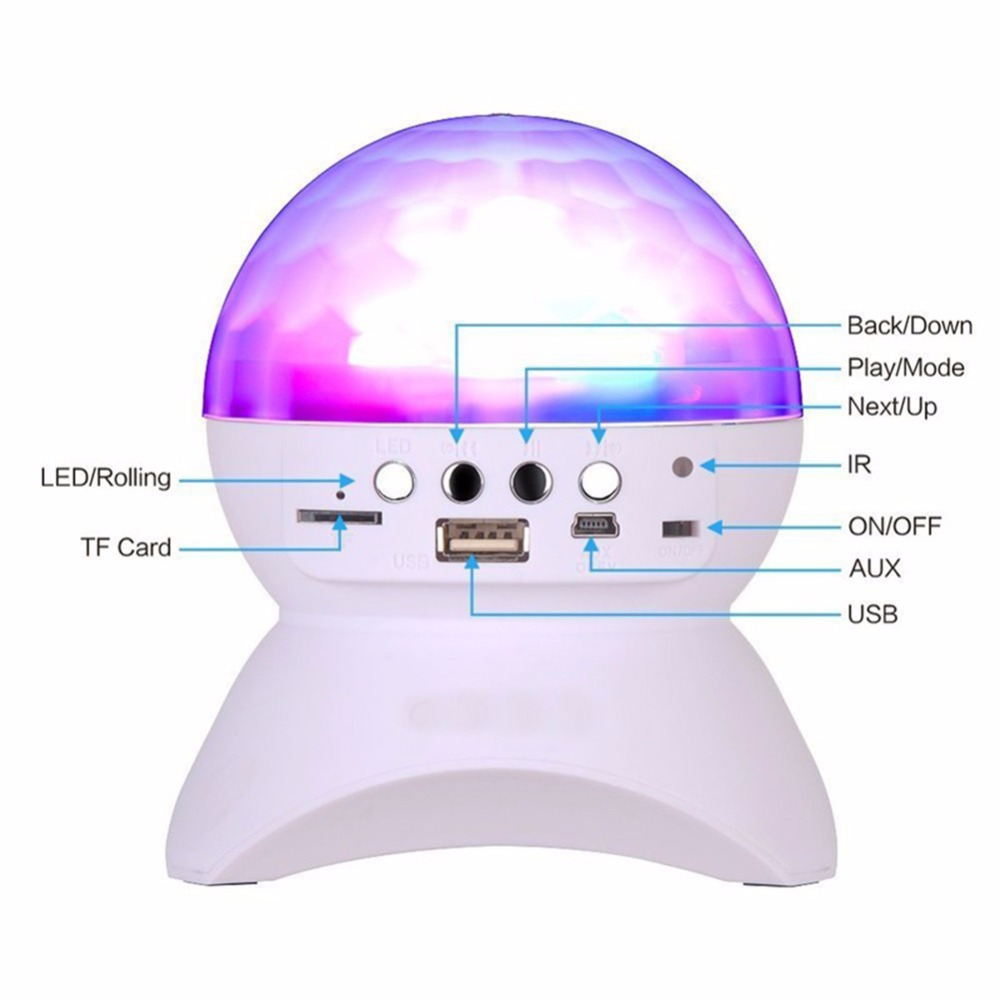 Wireless Bluetooth Speaker Color Changing Party/Disco DJ With Built In Light Show Stage Lighting LED Crystal Bluetooth Speakers