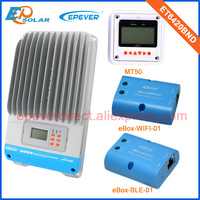 mppt control charger solar 60A 60amp ET6420BND with wifi and BLE for mobile phone use and white MT50 remote meter