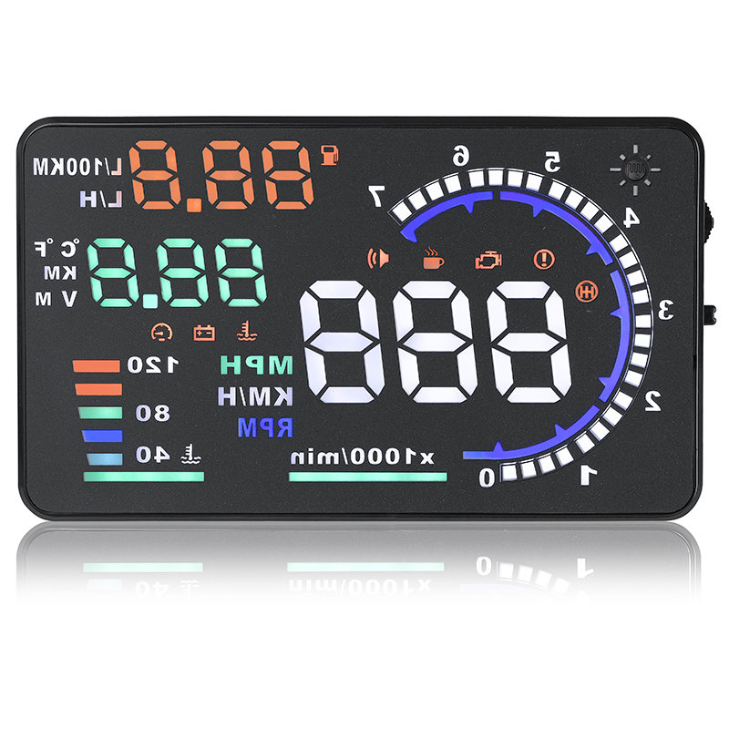car hud head up display kmh mph smart a8 5 5 digital car speedometer car styling obd2. Black Bedroom Furniture Sets. Home Design Ideas