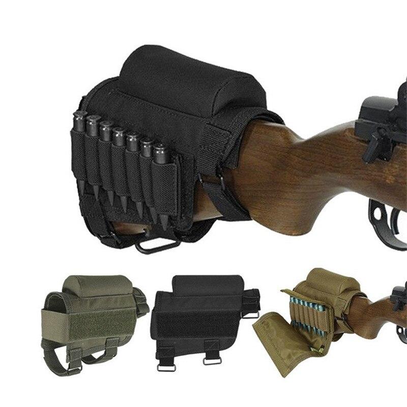 En plein air Tactique de Chasse Domaine CS Multi usage Tactique Cartouches Bullet Sac Cheek Rest Fusil Stocks avec Étui De Transport 7 tours
