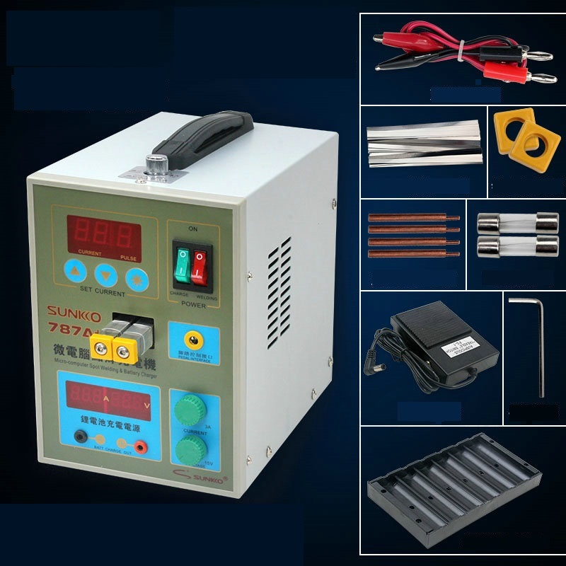 787A+ LED Pulse Battery Spot welder Recharge Charging Capability Charger Welding assembly 18650 micro welding  цены