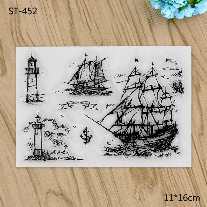 Thin Sail Boat Transparent Clear Stamp For DIY Scrapbooking Decorative card making craft Fun Decoration Supplies цена и фото