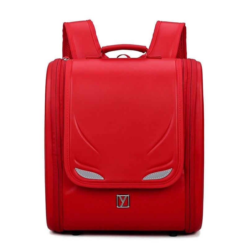 Children Black Backpack For Boy Backpack For Kids School Bag Orthopedic Backpack Japanese Book Bags PU Kid Backpacks Luminous цена 2017