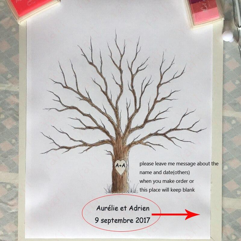 Aliexpress.com : Buy Personalized Fingerprint Wedding Guest Book Tree  Alternatives Wedding Fingerprint Tree DIY Baby Shower Gift Canvas Painting  From ...