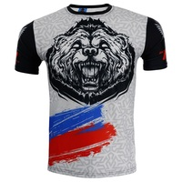 Fight fighting sport stretch fast dry T shirt fitness sport muscle male dog brother MMA free combat boxing bobo beg
