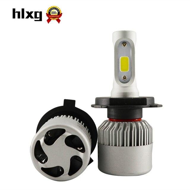 2x Plug & Play 8000LM Para Lumileds Chip de Carro H7 LEVOU Farol H11 H4 Carro Nevoeiro DRL Substituir Fonte de Luz Lâmpadas de Condução De Refrigeração De Cobre