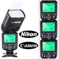 Câmera ttl flash speedlite triopo tr-988 profissional com alta velocidade de sincronização para canon e nikon câmera digital slr tr988 medida + difusor