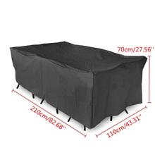 1pcs Black Outdoor Garden Patio Furniture Covers Shelter Sun Protection Cover Canopy Dustproof Cloth Table Protect Bag Textiles