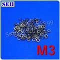 1000pcs M3 Washer 304 Stainless Steel Spring Washer Fastener Hardware