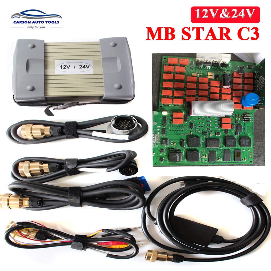 Genteel Super Quality Mb Star C3 Diagnosis Professional Diagnostic Tool Mb Star C3 Multiplexer All New Red Relay 12v & 24v Hdd V2018