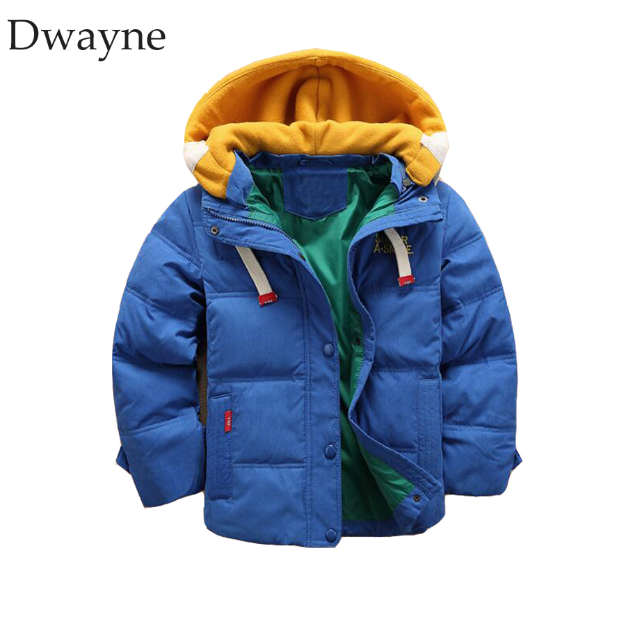 High Quality Children Jackets Outerwear Boys Winter Clothing Warm Cotton Kids Coats Parka Winter Jacket Blue 3 4 6 8 10 12 Years