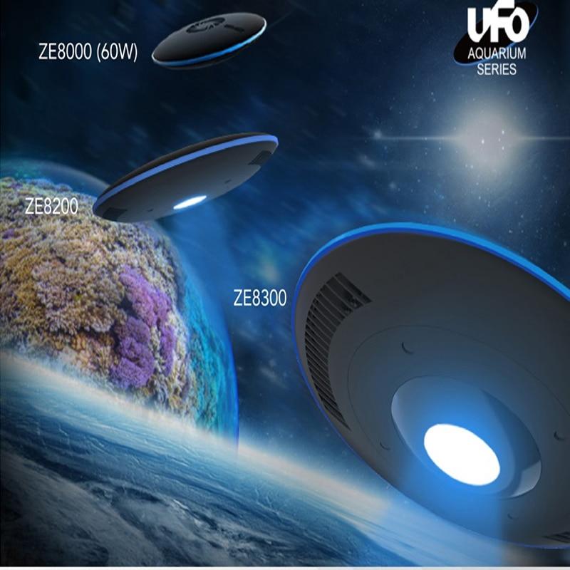 Zetlight UFO ZE8000 ZE8200 ZE8300 coral aquarium lamp SPS LPS for seawater coral lamp APP control by smartphone wifi tank lamp