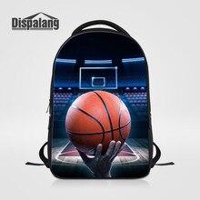 Dispalang персонализированные Дизайн баскетбольные мячи школьный для студентов колледжа мужской Mochila Escolar ноутбук рюкзак мужская повседневная daypack