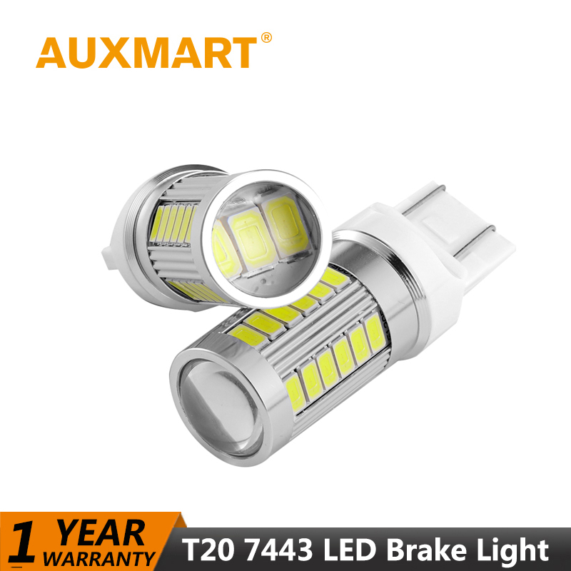 Auxmart Car Light T20 7443 580 Canbus Led Bulb Universal Auto Lamp 33W SMD Car-styling LED lights for Jeep Chevrolet Dodge BMW auxmart triple row led chips 12 led