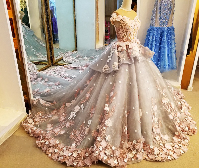 LS88349 gaun panjang untuk gaun pesta perkahwinan vestidos de festa - Gaun acara khas - Foto 3