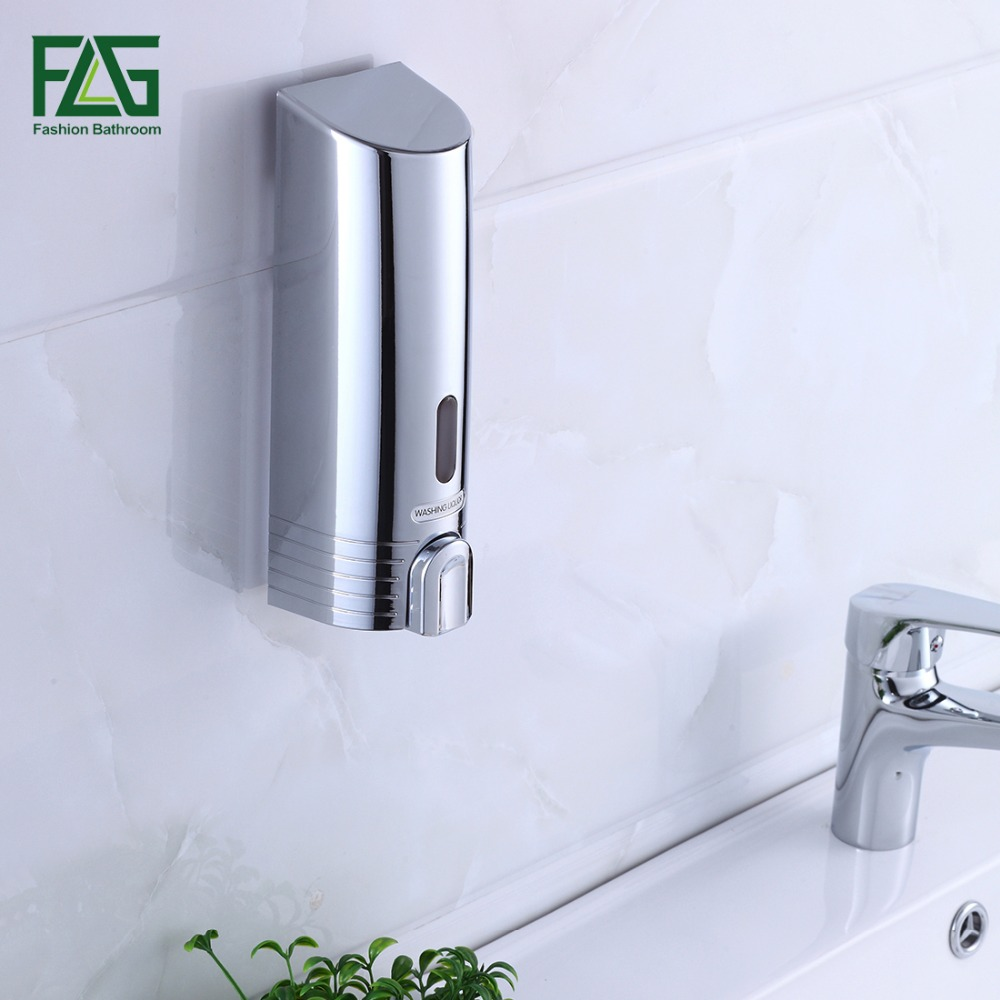 FLG New ABS Plastic 380ml Wall Mounted Soap Sanitizer Bathroom ...