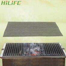 HILIFE жаровня барбекю сетка Гриль коврик высокая термостойкость Пароварка коврик для пиццы черный антипригарный