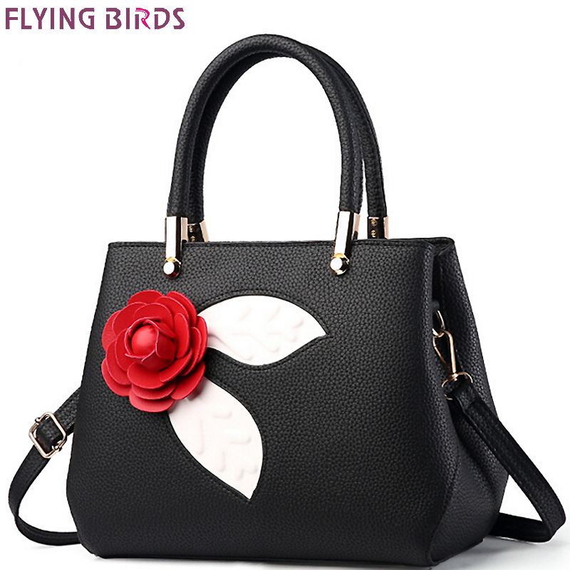FLYING BIRDS handbag for women leather tote fmaous brands designer messenger bags ladies pouch flower high quality bag LM4136fb flying birds 2016 women leather handbag for women messenger bags handbags quality women s pouch shoulder bag bolsas ls4809fb