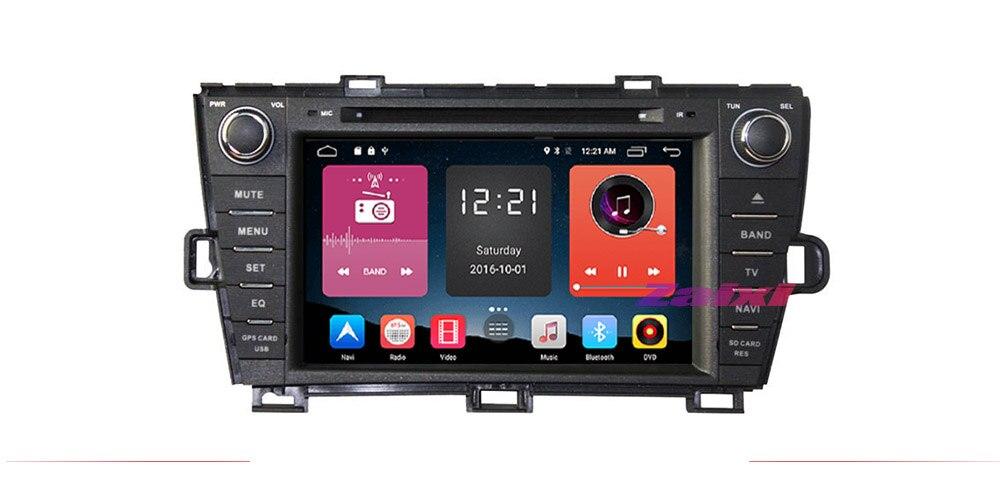 ZaiXi Android Car Multimedia player 2 Din WIFI GPS Navigation Autoradio For Toyota Prius 2009~2015 GPS Radio FM Maps BT 7
