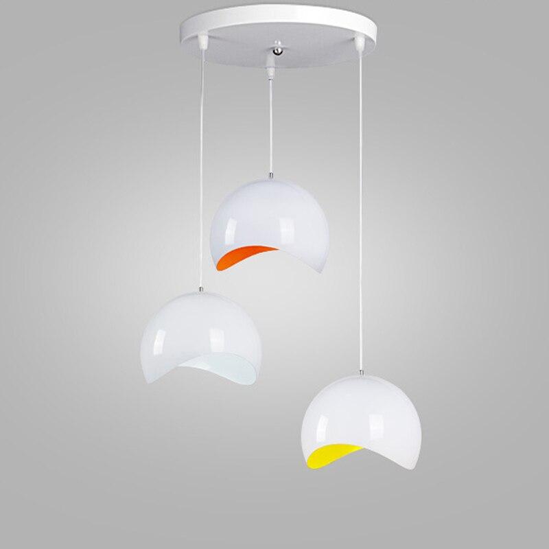 ФОТО Modern fashion simple led pendant lights Lamp Acrylic shade for dining room Kitchen with led light bulb E27 110V/22V Black/White