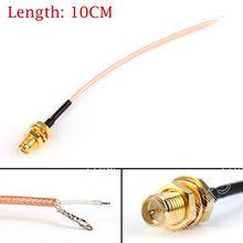 Venta 10 CM Coleta RG178 RP SMA Hembra Para PCB Soldadura BAJA PÉRDIDA de Cable Para WIFI Inalámbrico de Alta Calidad Jackplug Alambre conector