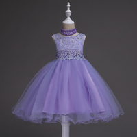 Cute Flower Girl Dresses Lace Appliques Kids Princess Wedding Birthday Dress Children Costume Clothes Girls Lace Dresses