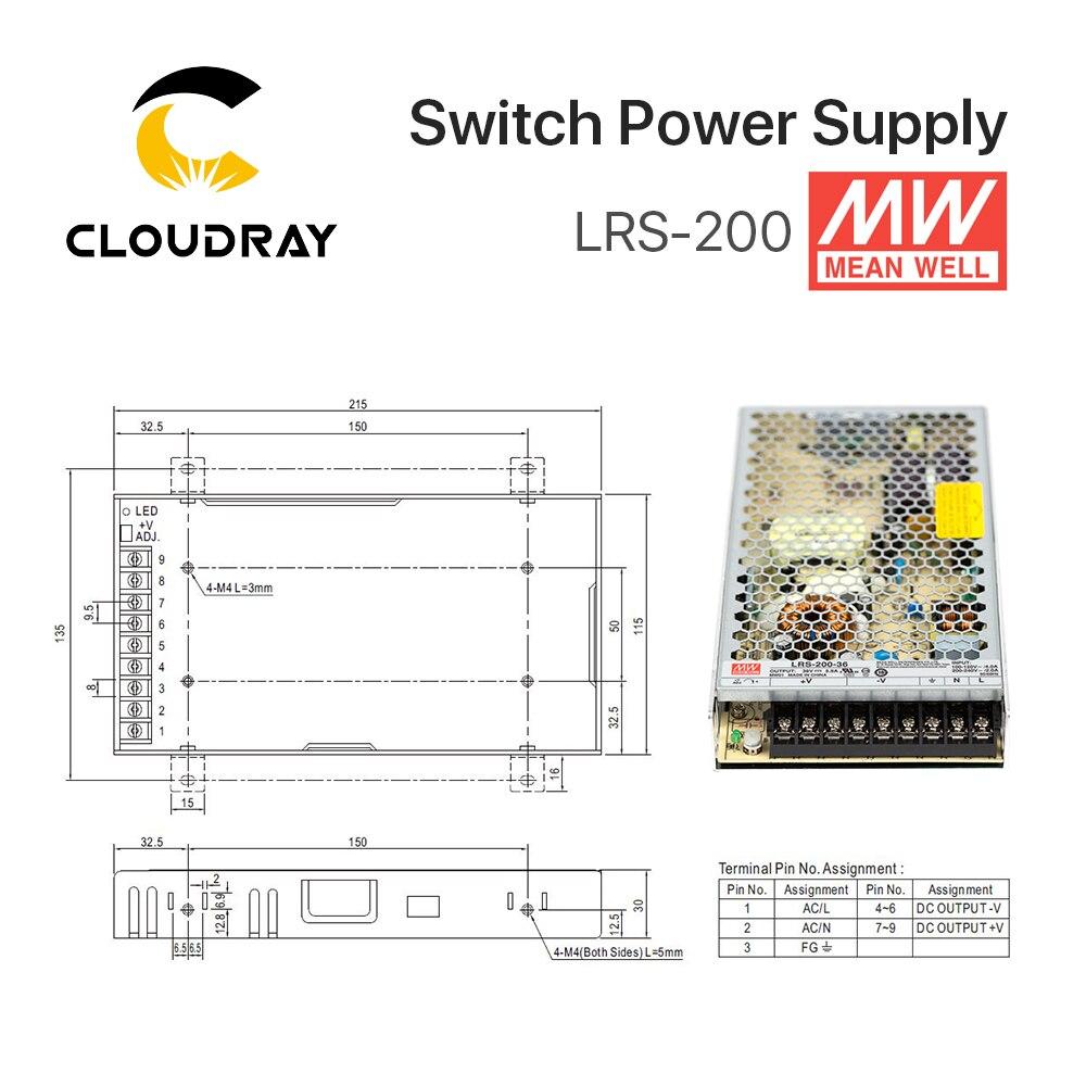 Meanwell LRS-200 Alimentation à découpage 12 v 24 v 36 v 48 v 200 w D'origine MW Taiwan Marque LRS-200-24 - 4