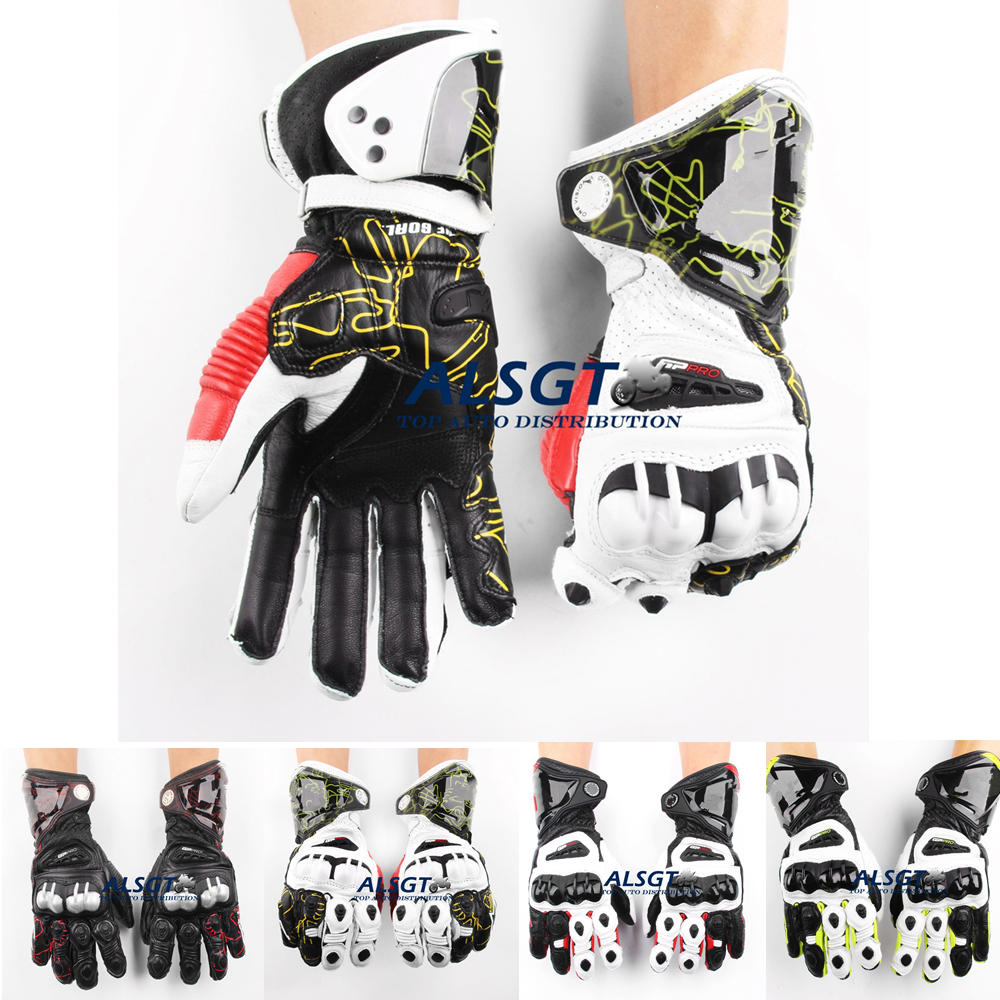 Leather motorcycle skeleton gloves - Free Shipping Gp Pro Top Racing Genuine Leather Gloves Off Road Racing Men Gloves Driving Motorcycle