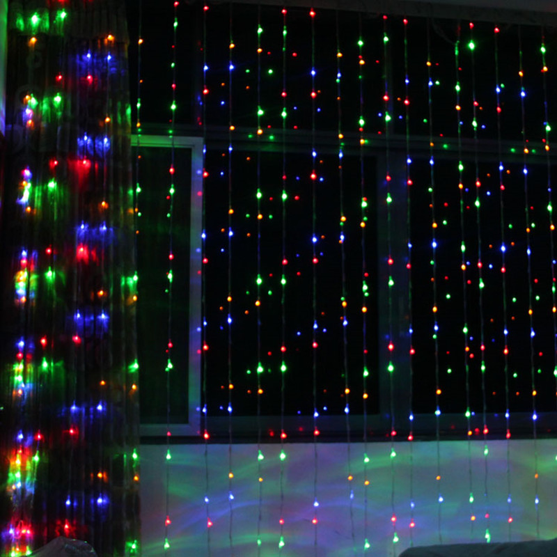 LED flashing lights string digital water lights hotel layout Marquee neon lights waterfall ,8M x 3m holiday decoration wedding supplies background layout led lights digital water waterfall lights 3m x 3m