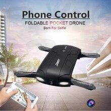 Hot plegable de bolsillo selfie fpv rc quadcopter drone con cámara wifi teléfono mini helicóptero de control dron helicóptero jjrc elfie h37