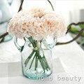 Высокое качество 1 Букет 5 голов искусственные шелковые цветы поддельные цветок пион свадьба украшение дома цветок ремесло FH241