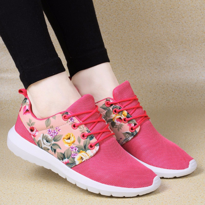 KUYUPP Fashion Breathable Print Flower Women Trainers Casual Shoes 2016 Summer Mesh Low Top Shoes Zapatillas Deportivas YD95 (22)
