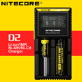 Display LCD Cargador de Batería Nitecore D2 Original con Número de Verificación para 26650 18650 16340 14500 rcr123 10400 aaaa aaa aa C