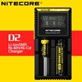 Original Display LCD Carregador de Bateria Nitecore D2 com Número de Verificação para 26650 18650 16340 rcr123 14500 10400 aaaa aaa aa C