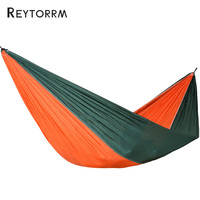 210T Nylon Fabric Hammock 1 2 Person Portable Leisure Hamac Patio Furniture Hanging Swing Chair Rede