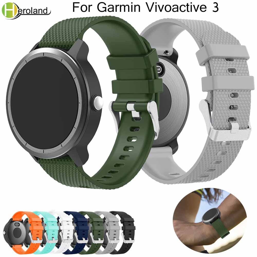 Colorful Soft Silicone Replacement Watch Strap For Garmin Vivoactive3 Vivomove HR Smart Wristband For Garmin Vivoactive 3 Band