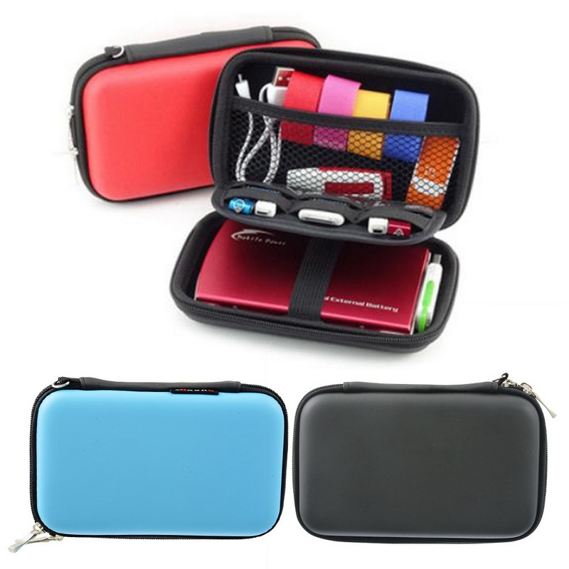 Case Container Coin Headphone Protective Storage Box Colorful Headphone Case Travel Storage Bag For Earphone Data Cable Charger(China)