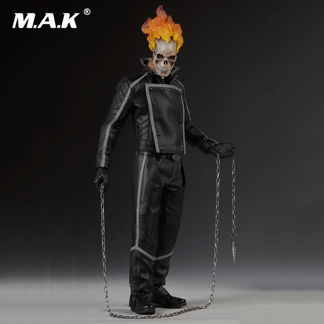 US $305 66 7% OFF|1/6 Ghost Rider Johnny Blaze Movable Action Figure  Collectible full set Figure Doll toys for Collection-in Action & Toy  Figures from