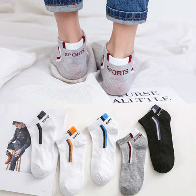 New Arrival Free Size Men Solid Color Cotton Fashion Male Boat Socks Elasticity 1 Pair 5 Colors High Quality 2018 Free Shipping