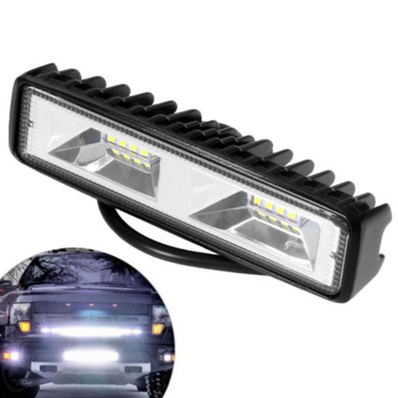 2Pcs 16LED Car Work Light Bar Spot Beam Driving Fog Lamp SUV Off-Road Auto LED Headlights White Fog Lamps