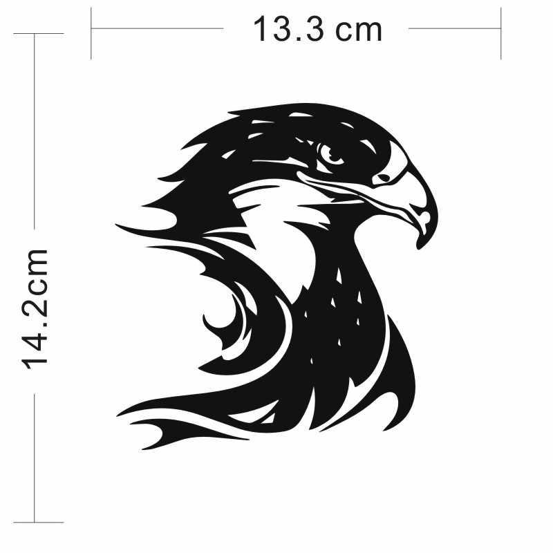 Cunymagos Fogo Chama Eagle Hawk Cabeça Decalque de Vinil Adesivo de Carro Styling Acessórios Do Carro Da Motocicleta Auto Adesivos de Parede 13.3 CM * 14.2 CM