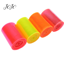 JOJO BOWS 75mm 2y Transparent PVC Ribbon Solid Smooth Webbing Dress Sewing Material DIY Hair Bow Home Decoration Handmade Crafts