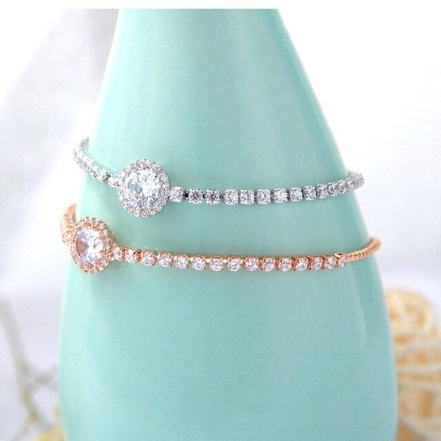 Фото модные браслеты белого цвета с кубическим цирконием для женщин цена