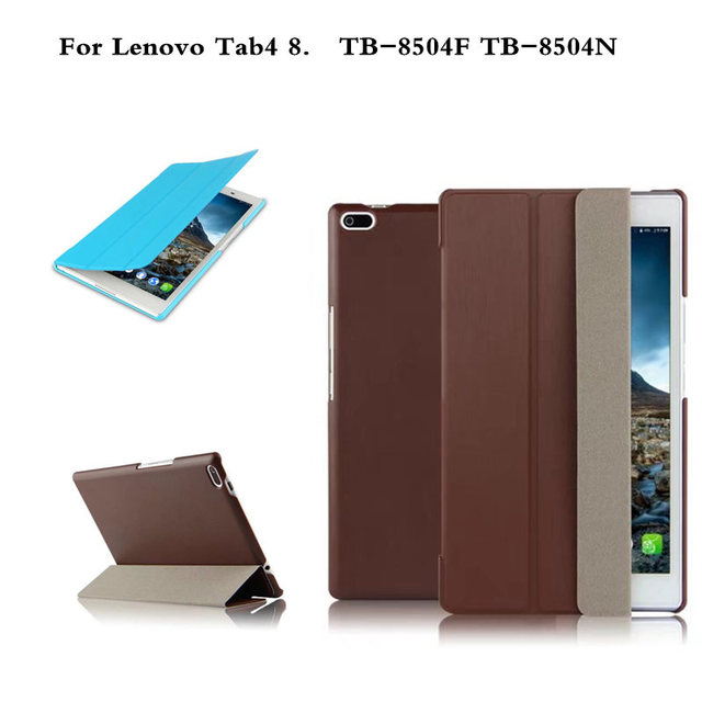 quality design 3c177 9dd88 US $8.49 15% OFF|For Lenovo Tab4 8 TB 8504X PU Leather case Protective  Cover for Lenovo TAB 4 8 TB 8504F TB 8504 TB 8504N tablet case Flip  Cover-in ...