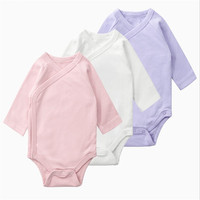 3 PCS RICHM Babe Baby Strampler Lange Ärmeln Premium 100% Baumwolle Neugeborenen Baby Mädchen Jungen Kleidung Feste Baby Kleidung Set 0 6 M-in Strampelanzüge aus Mutter und Kind bei