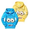 2015 despicable me 2 sequaz meninos roupas meninas camisas nova primavera hoodies tops & t asseclas criança