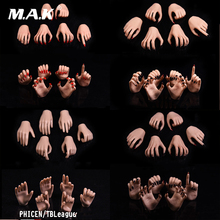 1/6 Scale Woman Hand Model Long nails Claw hand/For 12 Male Action Figure Body 3 PAIRS New