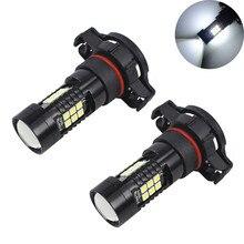2Pcs LED Fog Lights For Car 12V DC H16 3030 21 LED Lights White 6500K Car Fog Head Light Lamp Headlight